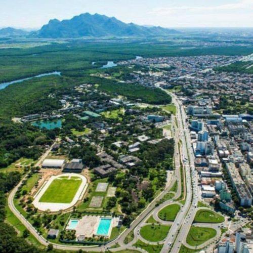 Vista aérea do campus da Ufes em Vitória